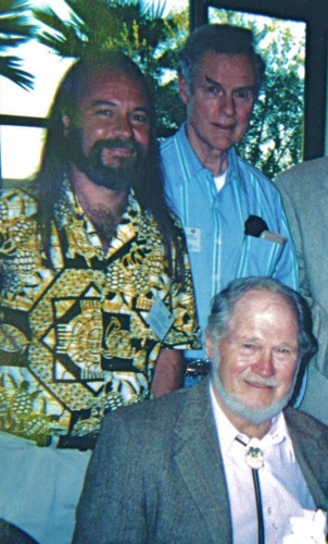 Carel Pieter Brest van Kempen, Charles Allmond and Bob Kuhn at the 2001 SAA Annual Exhibition