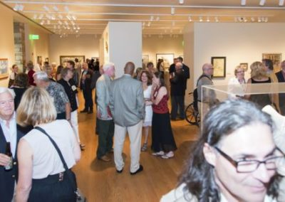 Artists and Patrons at the Opening Reception
