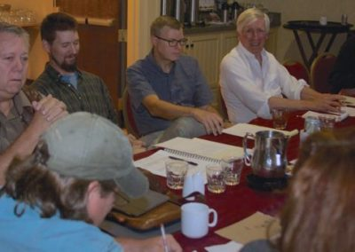 SAA Board Meeting: (Facing) David Rankin, Sean Murtha, Wes Siegrist, Alan Blagden, Ajay Brainard