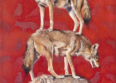 Denman, Andrew - Totem 5, Stacked Coyotes and Ravens
