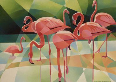 Ingram, Alison - Flamboyant Flamingoes