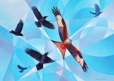 Ingram, Alison  - Red Kite And A Mob Of Crows
